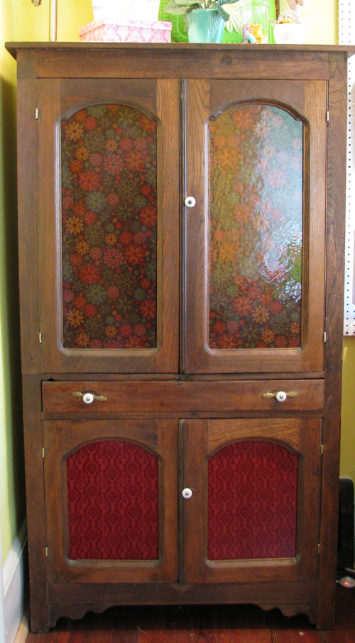 Old cabinet with paper resized